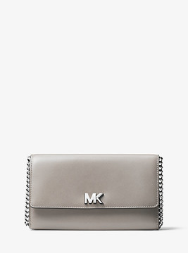 Michael Kors Mott Leather Clutch - GREY - STYLE
