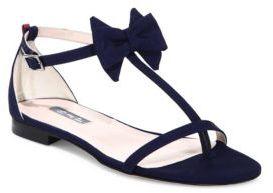 Sarah Jessica Parker Tots Bow-Detail Flat T-Strap Sandals