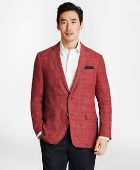 Brooks Brothers Regent Fit Windowpane Linen Sport Coat