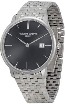 Frederique Constant Slim Line Black Dial Stainless Steel