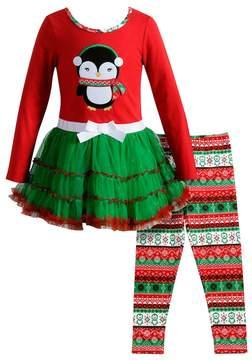 Youngland Girls 4-6X 2-pc. Penguin Dress & Legging Set