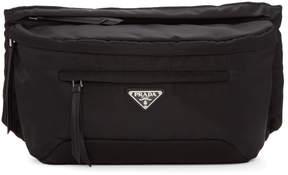 Prada Black Studded Strap Belt Pouch