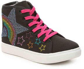Steve Madden Girls Rainbow Youth High-Top Sneaker