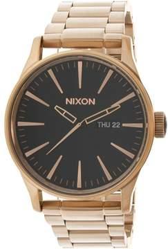 Nixon Men's Sentry Ss A3561932 Rose-Gold Stainless-Steel Quartz Fashion Watch