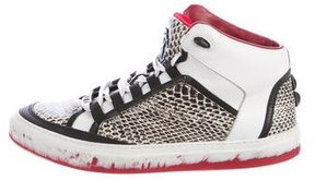 Roberto Cavalli Embossed High-Top Sneakers