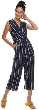 Speechless Juniors' Striped Jumpsuit