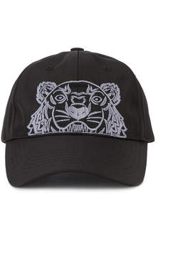 Kenzo Tiger logo embroidered cap