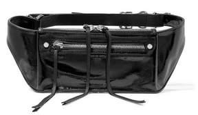 Rag & Bone Ellis Textured Patent-leather Belt Bag - Black