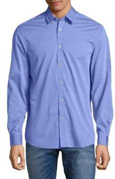 Report Collection Embroidered Cotton Button-Down Shirt