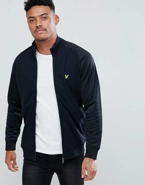 Lyle & Scott Tricot Jersey Track Jacket In Black