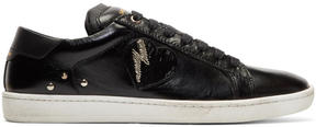 Saint Laurent Black Flame and Matches Sneakers