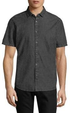 Saks Fifth Avenue BLACK Distressed Chambray Button-Down Shirt