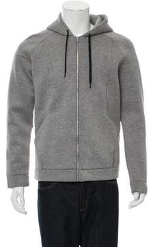 Alexander Wang Neoprene Zip-Front Sweater