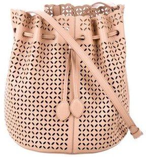 Alaia Laser Cut Crossbody Bag