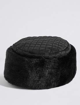 Marks and Spencer Quilted Fur Hat