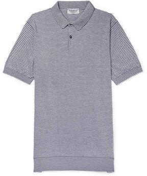 John Smedley Etton Striped Sea Island Cotton Polo Shirt
