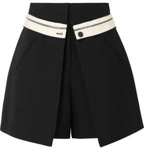 Alexander McQueen Wool-blend Crepe Shorts - Black