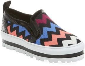 MSGM Women's Chevron Slip-On Sneaker