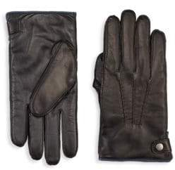 Saks Fifth Avenue COLLECTION Touch Tech Leather& Cashmere Gloves
