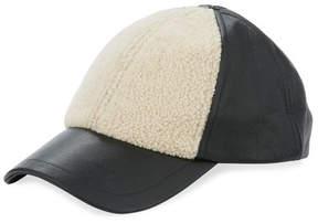 UGG Curly Pile Leather Baseball Hat
