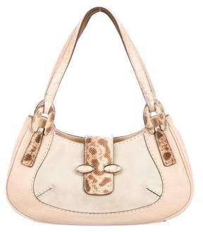 Tod's Lizard-Accented Shoulder Bag