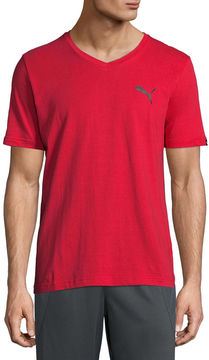 Puma Iconic Vneck Tee Short Sleeve T-Shirt