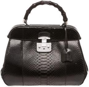 Gucci Bamboo python satchel - BLACK - STYLE