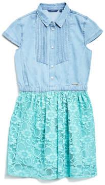 GUESS Cap-Sleeve Two-Fer Dress (7-16)