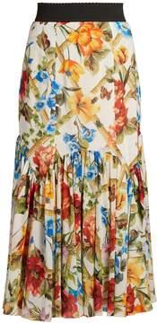 Dolce & Gabbana Floral-print midi skirt