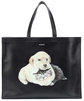 Balenciaga Puppy and Kitten leather tote