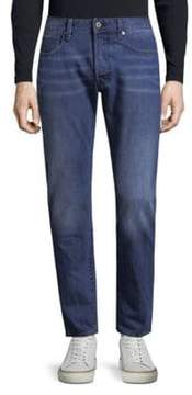 G Star Slim-Fit Whiskered Cotton Jeans