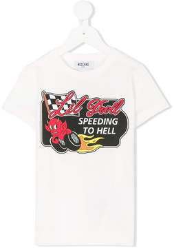 Moschino Kids racing graphic T-shirt