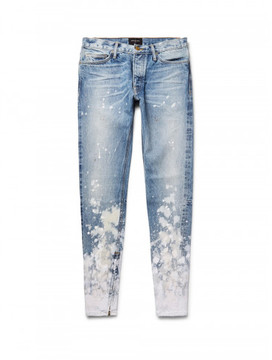 Fear Of God painted skinny jeans