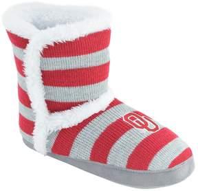 NCAA Women's Oklahoma Sooners Striped Boot Slippers