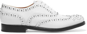 Church's The Burwood Studded Leather Brogues - White