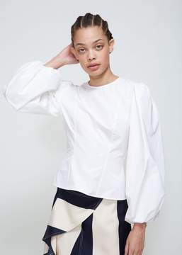 Calvin Klein Couture Sleeve Poplin Blouse