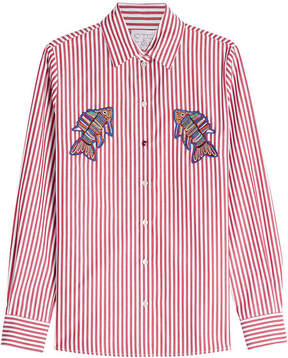Stella Jean Striped Cotton Shirt With Patches