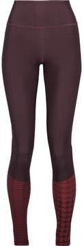 adidas by Stella McCartney Train Miracle Printed Climalite Stretch Leggings - Dark purple