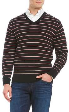 Daniel Cremieux Striped V-Neck Sweater