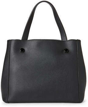 Street Level Black Studded Satchel