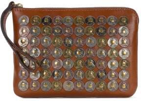 Patricia Nash Leather Coin-Embellished Cassini Wristlet