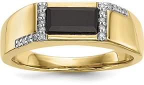 Ice 14K Gold w/ Onyx & Diamond Men's Ring