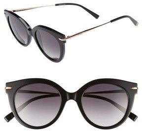 Max Mara Women's Needle Vi 50Mm Gradient Round Sunglasses - Black Gold