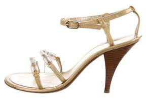 Chanel CC Metallic Sandals