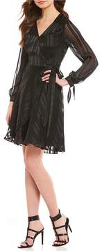 Isaac Mizrahi Imnyc IMNYC V-Neck Long Sleeve Wrap Dress