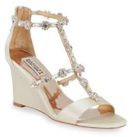 Badgley Mischka Bejewled Metallic Sandals
