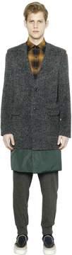 Kolor Fur Effect Alpaca Wool Coat