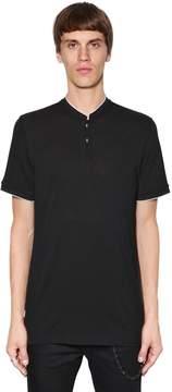 The Kooples Mandarin Collar Jersey Polo Shirt