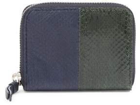 AllSaints Ikuya Genuine Snakeskin & Leather Wallet