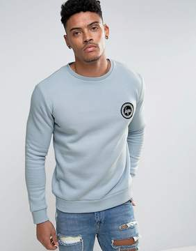 Hype Sweatshirt In Blue With Crest Logo